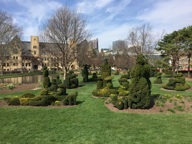 Plant Sculptures in Topiary Park, Columbus Ohio