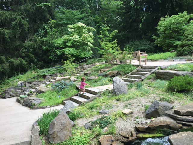 walking path and steps in Inniswood Metro Gardens