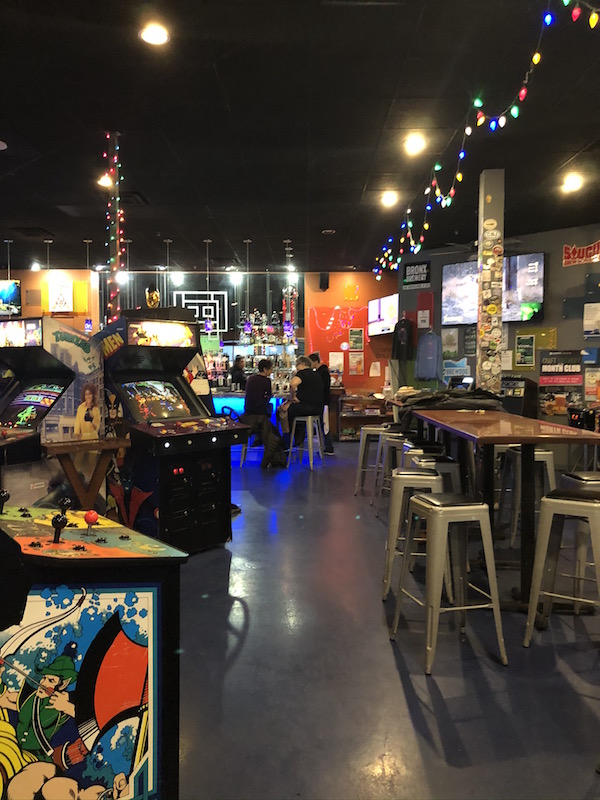 arcade games at Level One Bar and Arcade