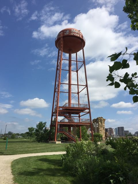 water tower at Scioto Audubon Metro Park