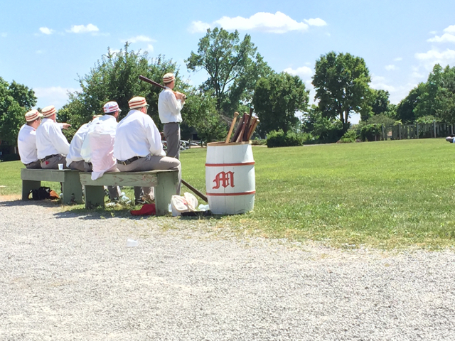 base ball players at Ohio Village