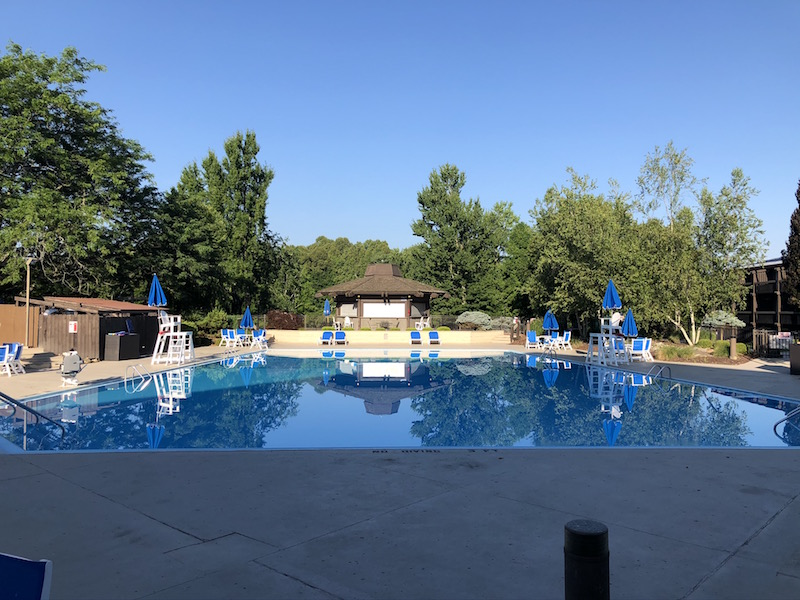 outdoor pool at Salt Fork State Park Lodge