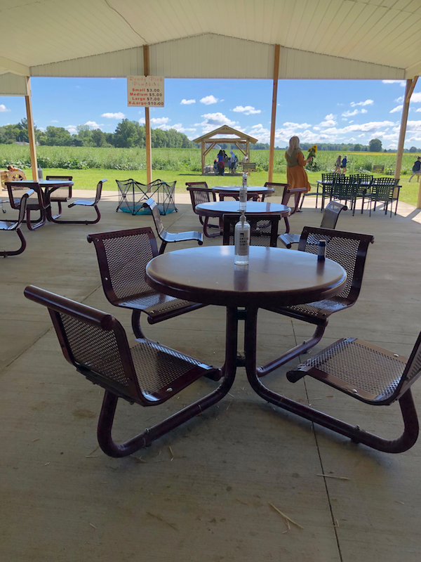 Patio at Hendren Farm Market