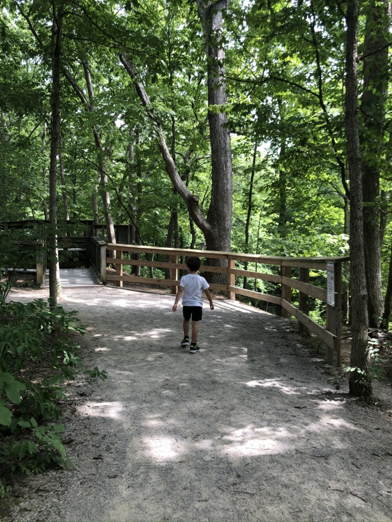 boy on the Indian Run Trail in Dublin, Ohio