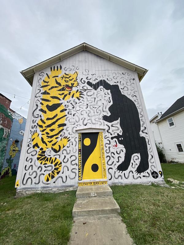 Black Lives Matter Mural in Columbus, Ohio