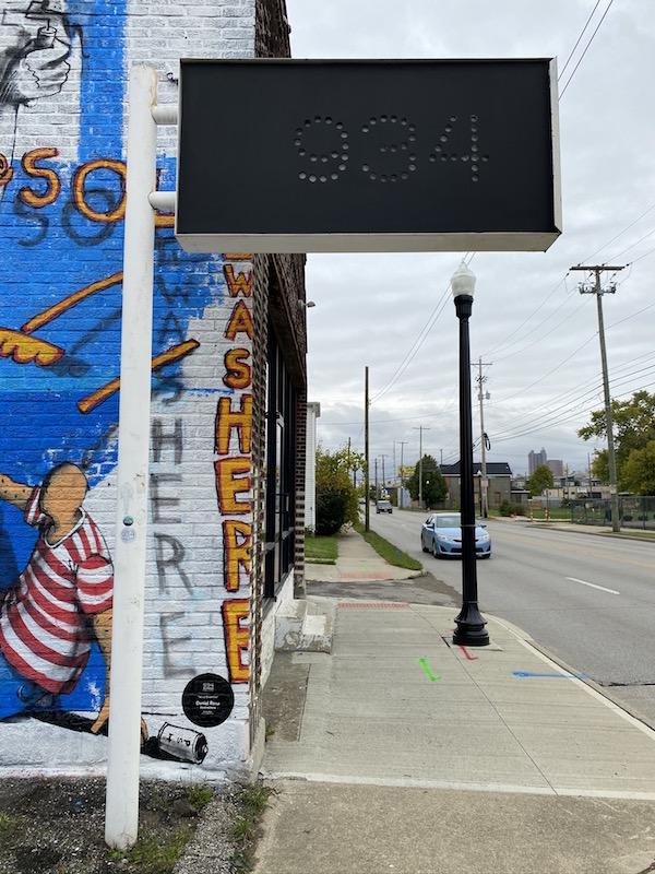 934 Gallery Sign in Milo Grogan