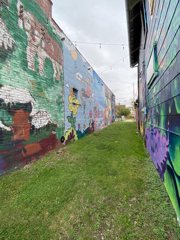 Mural Alley in Milo Grogan