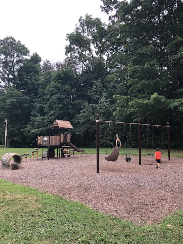 natural themed playground at Mt. Gilead State Park