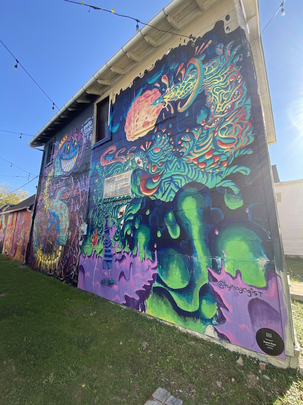 Moongazer Mural at 934 Gallery