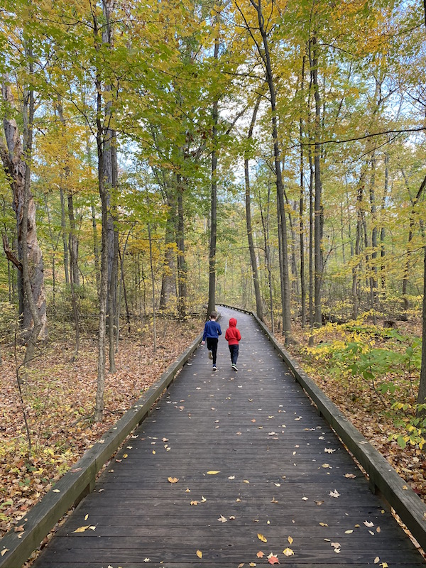 Two boys on the Boardwalk Trail