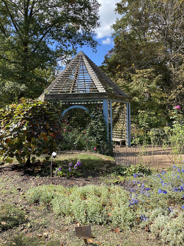 gazebo and flowers in The Herb Garden at Inniswood Metro Gardens, Westerville Ohio