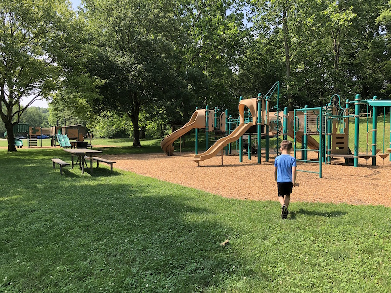 Playground area at Indian Ridge Area of Battelle Darby Creek Metro Park