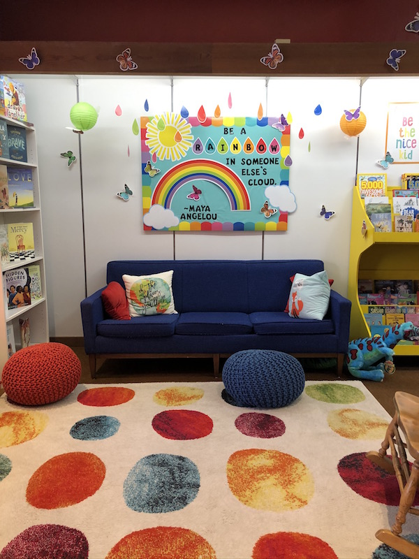 Couch inside a Children's Bookstore in Bellefontaine, Ohio