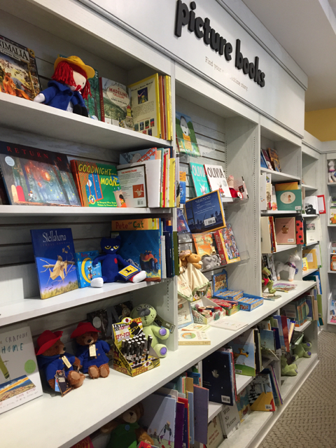 The picture book area at Gramercy Books in Bexley, Ohio