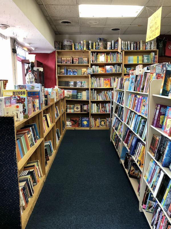 inside the children's book area at The Book Loft in Columbus, Ohio.