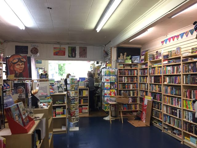 inside the bookstore Beanbag Books in Delaware, Ohio