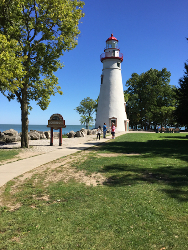 Marblehead Lighthouse on the Marblehead Peninsula at Lake Erie