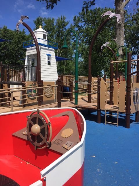 playground area at Lakeview Park in Port Clinton, Ohio