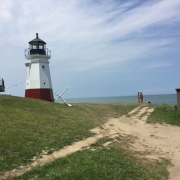 vermilion light house at main street beach