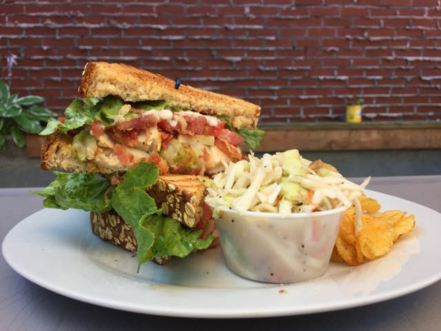 California Club sandwich at Woodstock Cafe in Vermilion, Ohio