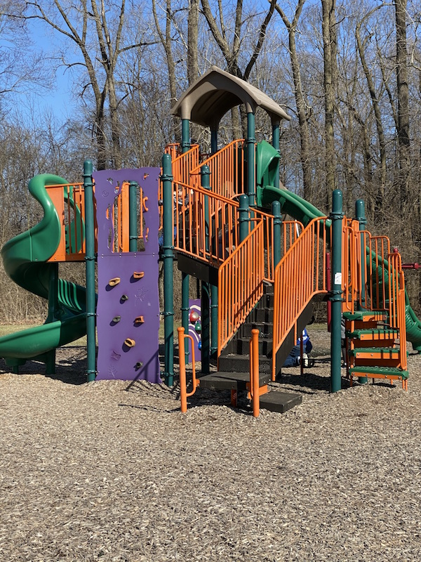 play structure for older kids at Academy Park in Gahanna, Ohio.