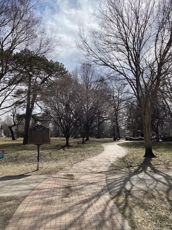 Entrance to Schiller Park in German Village, Columbus, Ohio.