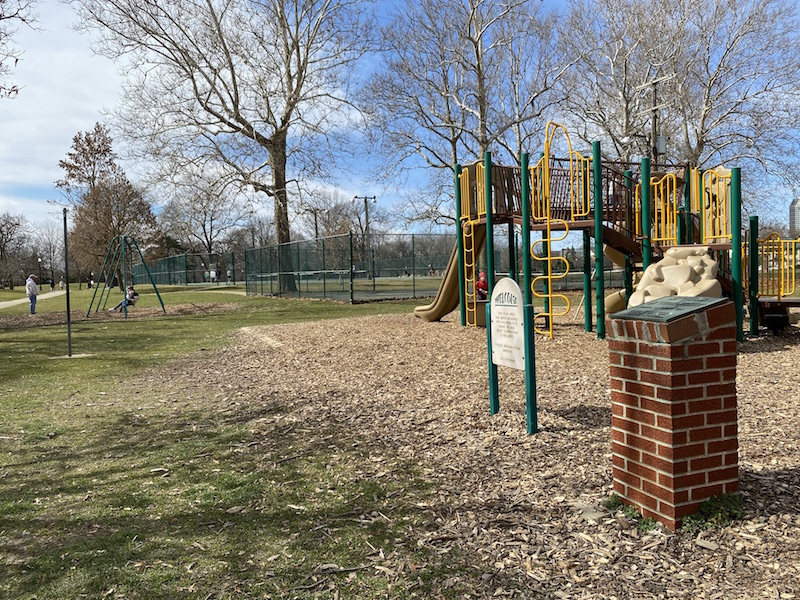 older kids playground area at Schiller Park.