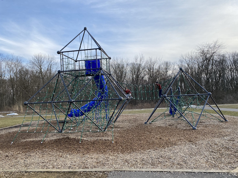 playground area at scioto grove metro park.