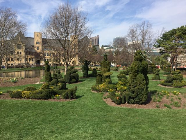 Topiary Park in Downtown Columbus, Ohio.