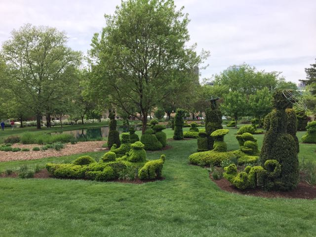 topiary park in Columbus, Ohio.