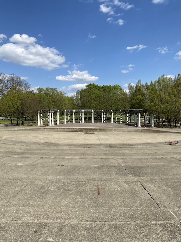 the stage in Franklin Park.