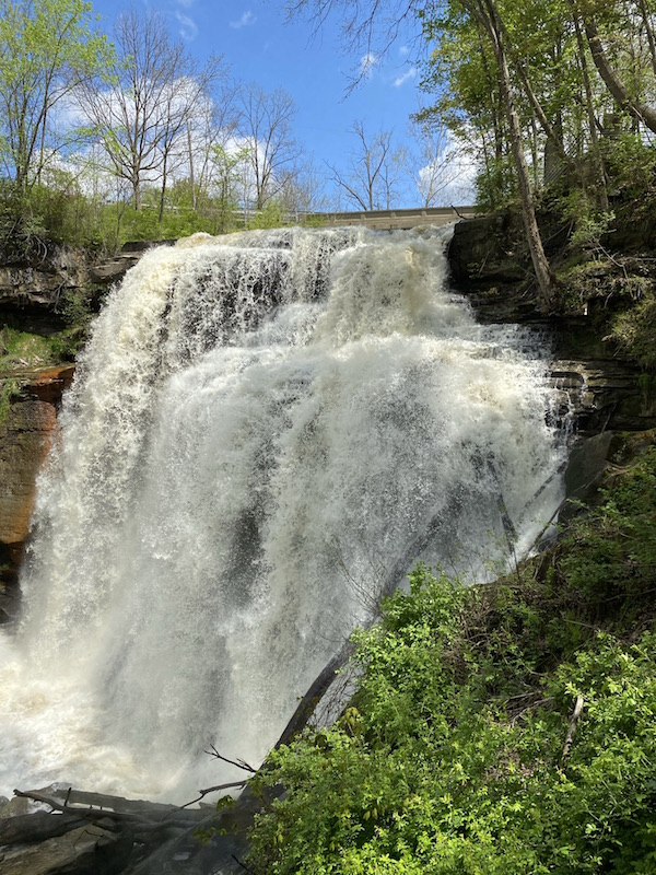 view of Brandywine Falls from the Upper Deck.