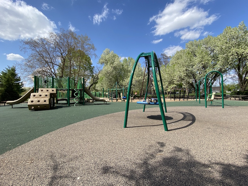 The playground area at Franklin Park.