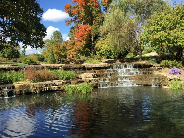 Franklin Park Cascades in the Fall.