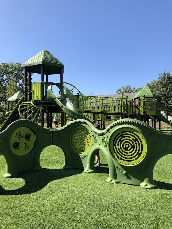 play structures within the park.