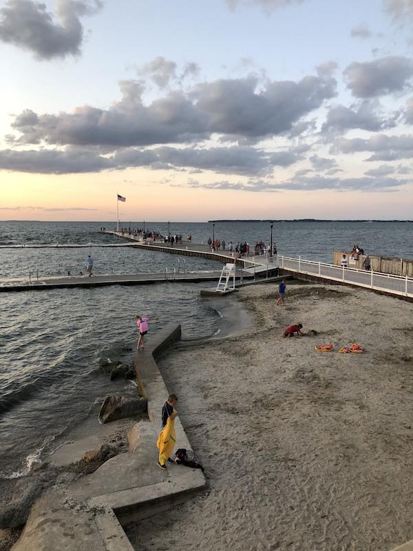 sunset on Lake Erie at Lakeside, Ohio.