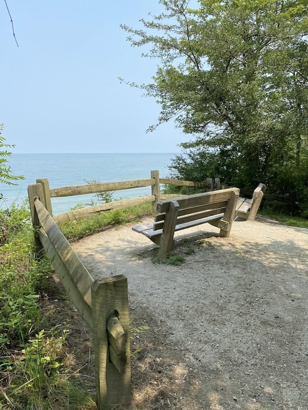 Observation Deck at Lake Erie Bluffs.