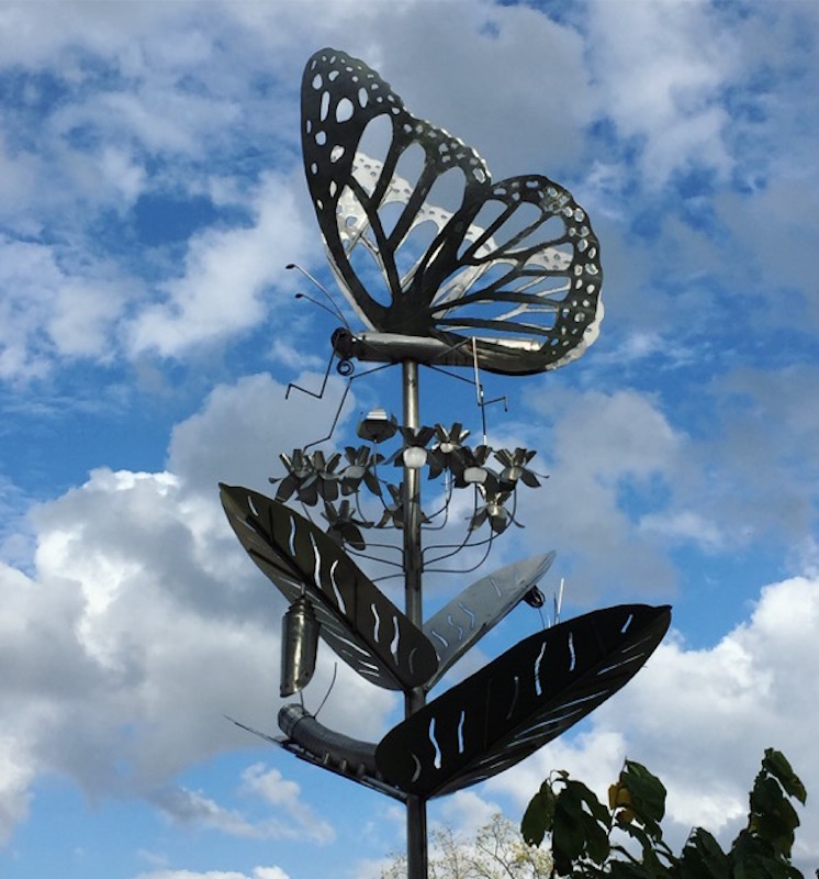 butterfly sculpture in Westgate Park, Columbus, Ohio.