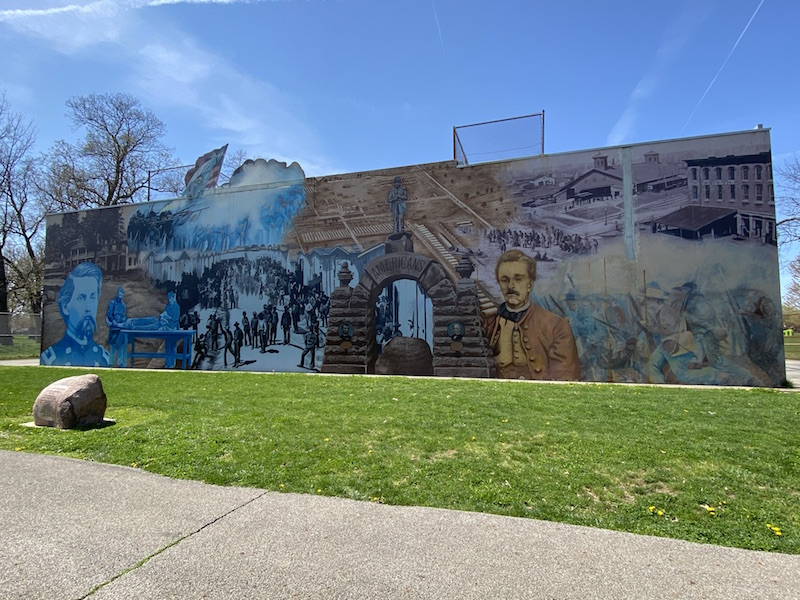 Heroes of Camp Chase mural in Westgate Park, Columbus.