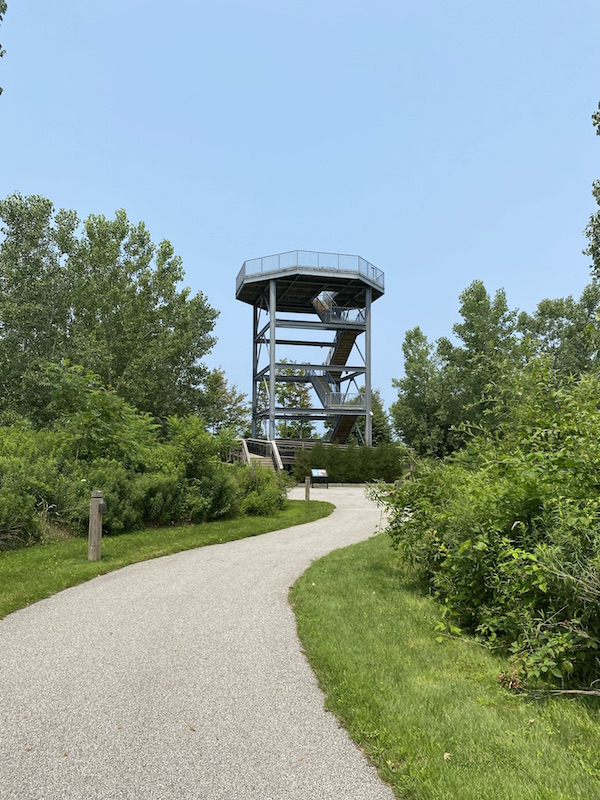 The Coastal Observation Tower at Lake Erie Bluffs.
