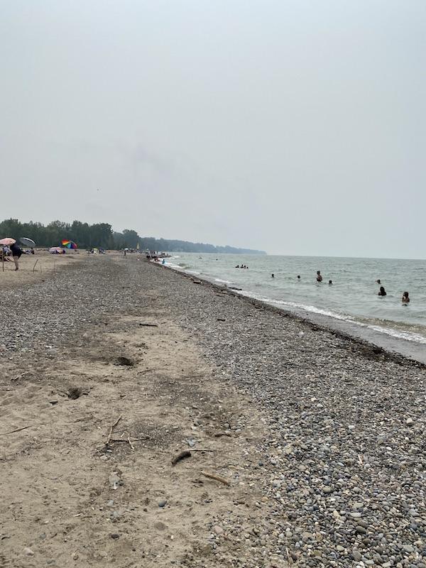 lake erie beach in Mentor Ohio.
