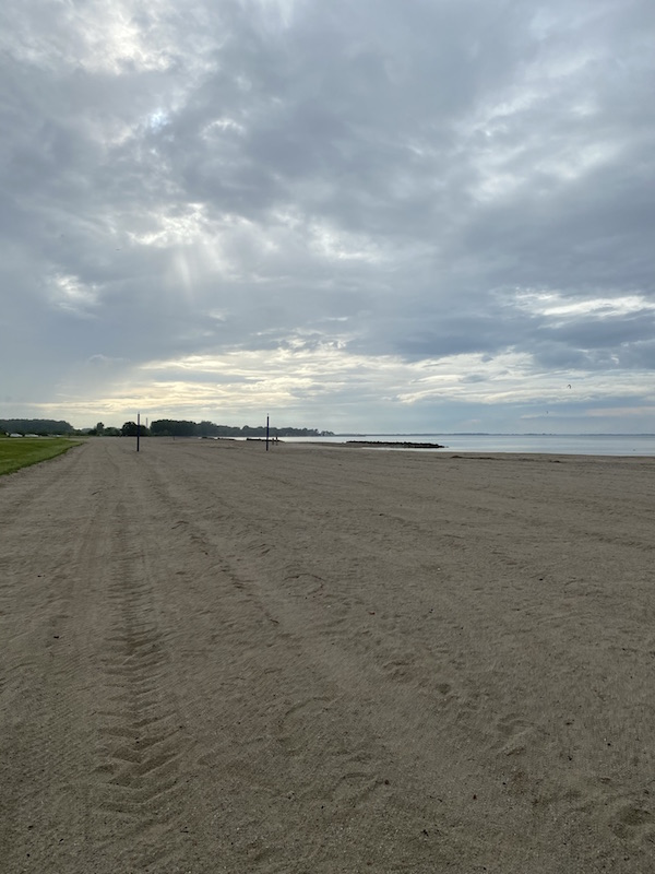 lake erie beach at Maumee Bay State Park.