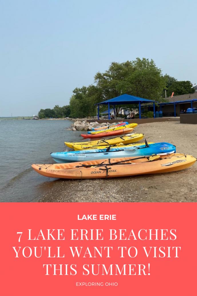 Lake Erie Beaches in Ohio.