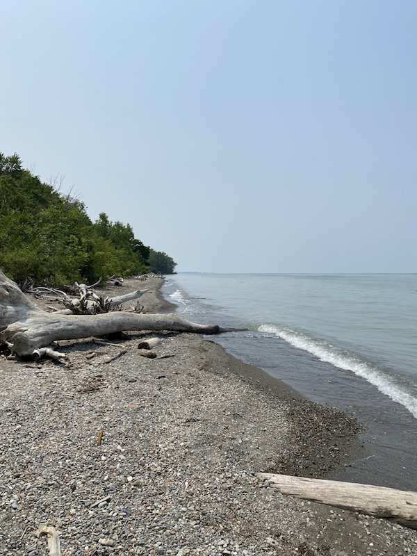 The beach area at Lake Erie Bluffs.