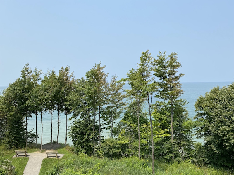 A view of Lake Erie at Lake Erie Bluffs in Perry, Ohio.