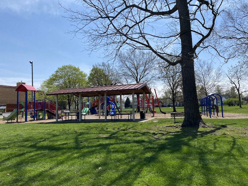 Blue Jackets Playground at Westgate Park.