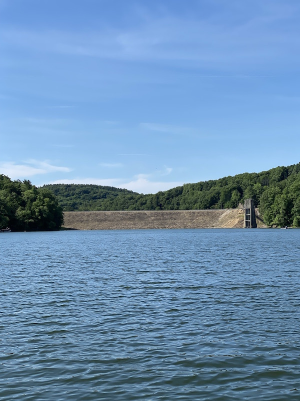Pleasant Hill Lake Dam in Mohican Country.