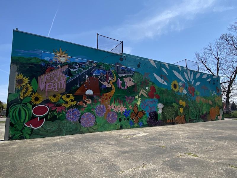 summer jam west mural in westgate park, columbus, ohio.
