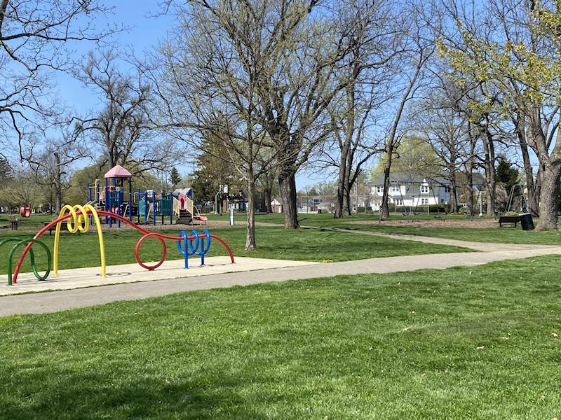 playground area at Westgate Park columbus.