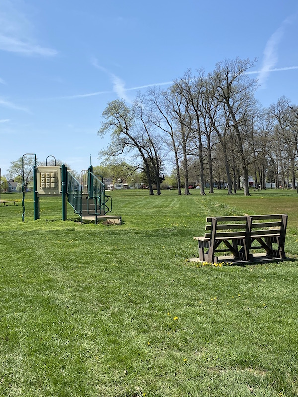small playground area at Westgate Park.